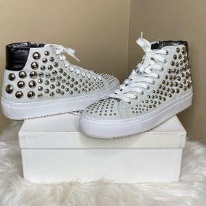 Steve Madden Nielson Suede Studded Sneaker